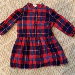 J Crew Crewcuts flannel dress